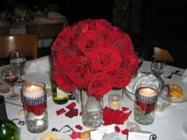 Amor Red Roses Centerpiece