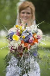 Amy's Bling and Wildflower Cascade Bride's Bouquet Abloom Original