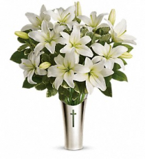 An Abundance of Lillies Funeral Flowers