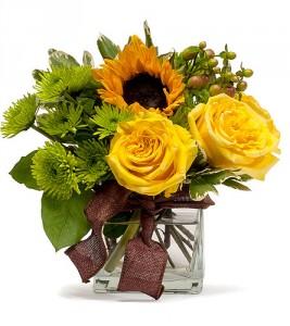 An Autumn Gift Vase Arrangement