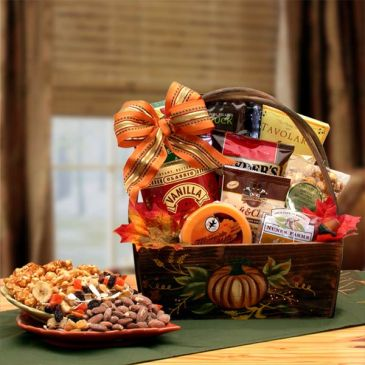 An Autumn Harvest Gift Basket