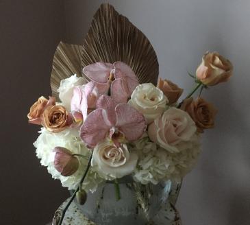 Anahaw Phalaenopsis  Vase Arrangement
