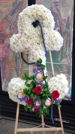 Anchors Away  Funeral Anchor Wreath