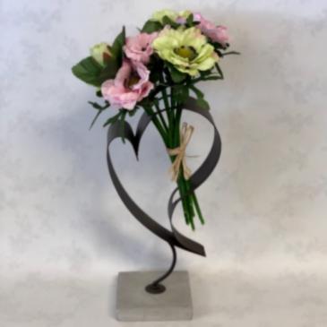 Anemone Heart Silk Floral Arrangement