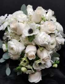 Wonderfully White Cascade Bridal Bouquets