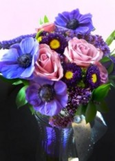 Anemones for Stephanie Bridal Bouquet