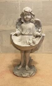 Angel Bird Feeder Statue