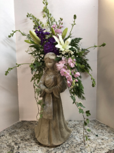 Angel funeral arrangement