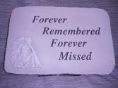 "Angel ""Forever Remembered"" Sympathy Stone Sympathy"
