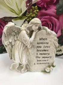 Angel Lean on Stone