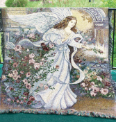 Angel of Love Tapestry Woven Throw