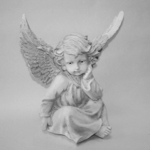 Angel Statue Memorial Stone