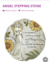 Angel Stepping Stone Stones