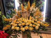Angel Sympathy Arrangement Funeral Flowers Roma Florist Free  delivery order online