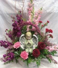 Angel Sympathy Arrangement  in Selma, NC | SELMA FLOWER SHOP
