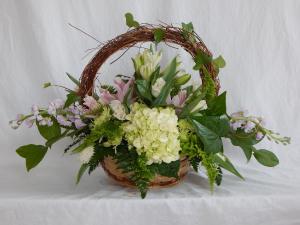 Angel Vine Basket Basket Arrangement in Norway, ME | Green Gardens Florist & Gift Shop