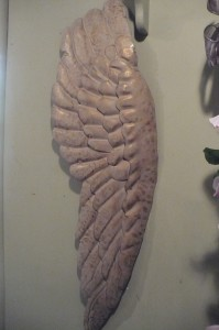 "Angel Wing $50.00 Metal 31"" high"