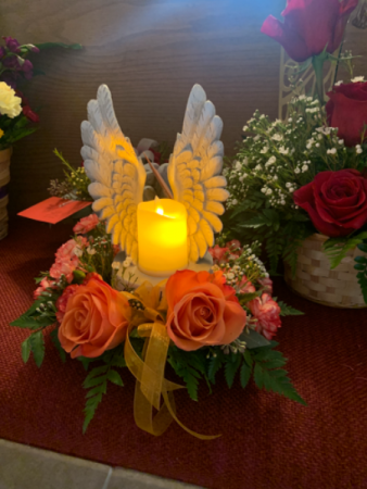Angel wing candle  Sympathy