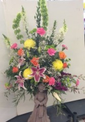 Angel Wing Floral Arrangement Sympathy