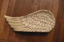 "Angel Wing Keepsake $26.00 12"" wide 5 "" tall- poly stone"