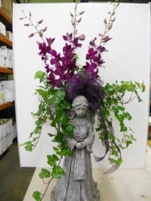 Orchid Angel Wing Planter  in Troy, MI   DELLA'S MAPLE LANE FLORIST