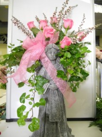 Pink Rose Angel Wing Planter