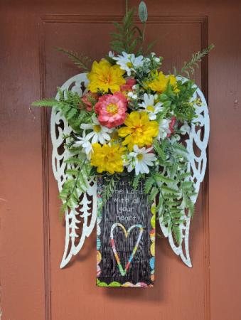 Angel Wings Door Accent Silk Door Decor
