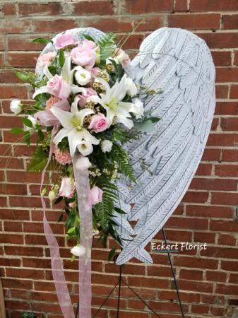 Angel Wings Standing Spray - Pink