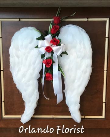 Angel Wings Custom Sympathy Tribute