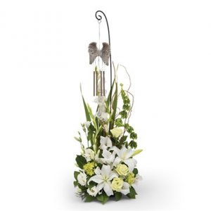 Angel Wings Wind Chime Tribute Sympathy Flowers / All Occasions in Las Vegas, NV | All In Bloom