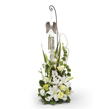 Angel Wings Wind Chime Tribute Sympathy Flowers / All Occasions