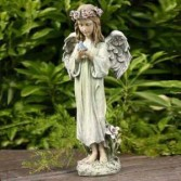 Angel with bird Statue