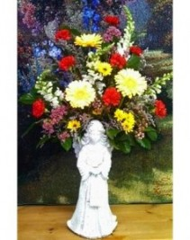 "Angel with Flowers 36""x24"" Memorial Stone"