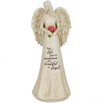 """Angel """" Your Life gave us memories"""" Statue"""