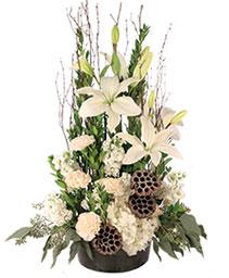 Angelic Ivory Floral Arrangement