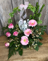 Angelic Serenity in Pink Funeral Flowers