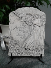 Angels Among Us Plaque with Stand  Memorial Plaque