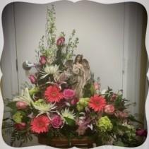 Angels Amoungst Us Floral Centerpiece