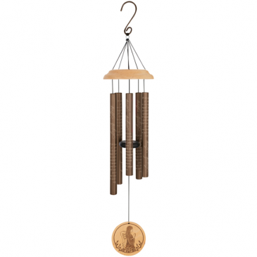 "Angel's Arms 33"" Wood Sonnet Wind Chime Powell Florist Exclusive"