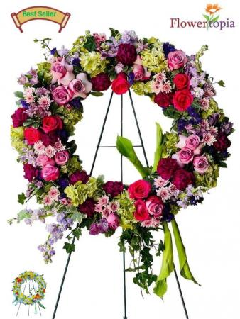 Angel's Garden Sympathy Wreath
