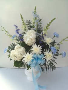 Angel's Wings Urn Arrangement Funeral Flowers