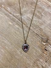 Anne Koplik Purple Heart Necklace