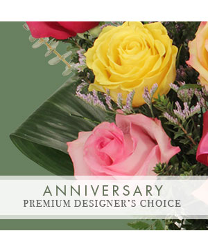 Anniversary Arrangement Premium Designer's Choice in Medfield, MA | Lovell's Florist, Greenhouse & Nursery