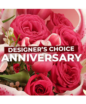 Anniversary Florals Designer's Choice in Davenport, IA | The Green Thumbers