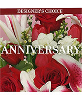 Anniversary Gift of Florals Designer's Choice in South Milwaukee, Wisconsin | PARKWAY FLORAL INC.