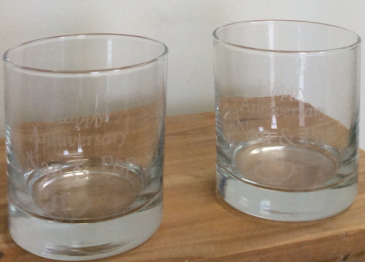 Anniversary Glasses Personalized engraved glass set