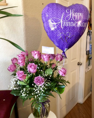Anniversary with Balloon Flowers