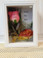 Another Year Wiser Gift shadow box