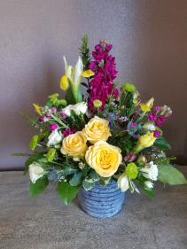Antique blooms Fresh arrangement