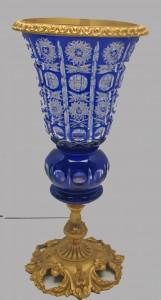 Vintage Blue Crystal  Vase